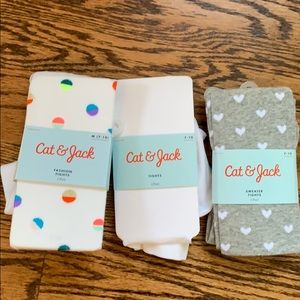Cat & Jack tights M(7-10) new with tags